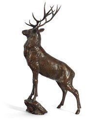 Monarch (Stag) by Michael Simpson -  sized 7x14 inches. Available from Whitewall Galleries